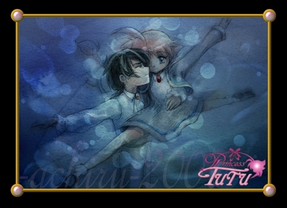 What song do Ahiru and Fakir dance a Pas de Deux to in the lake of despair?