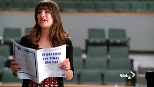 "Rachel quotes: ""...when I'm done rehearsing I'd like you're feedback. Tell me if I was brilliant or __________________"""