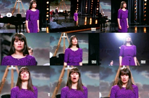 "Rachel & Broadway: She's singing ""Don't cry for me Argentina"", from the musical..."