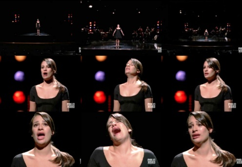 "Rachel & Broadway: She's 唱歌 ""My Man"", from the musical..."