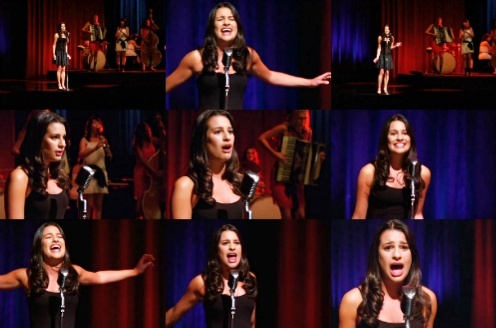 "Rachel & Broadway: She's 唱歌 ""Maybe this Time"", from the musical..."