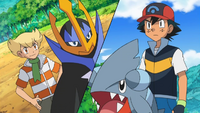 Barry is Ash's only rival that he never battled in the League tournament, as Barry was defeated by another rival beforehand.