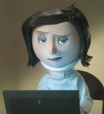 what was coraline mother wearing on her neck?