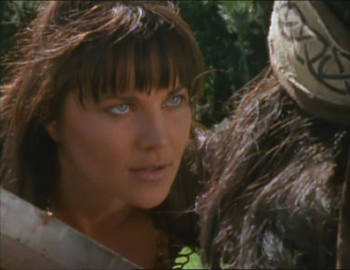 """What was the name of the man who was saved by Xena at the beginning of """"The Reckoning""""?"""