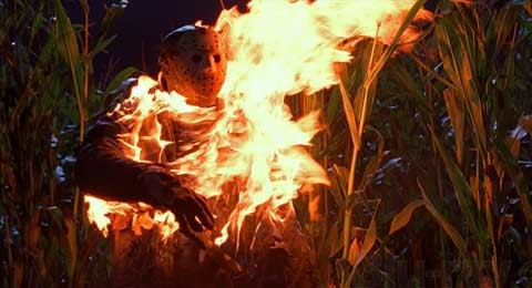 Freddy vs Jason: Who plays Jason in the rave scene when he is on fire?