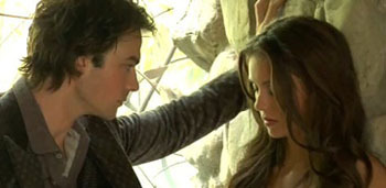 Damon: Come back as a vampire and I will stake u myself cause I can't stand the idea of u hating me forever.
