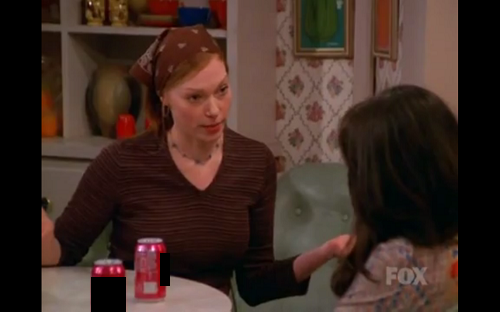 What brand of sodas are Donna and Jackie drinking?