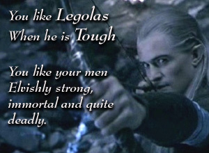 When the fellowship first went to edoras how many of grimas men did legolas hit to the ground?