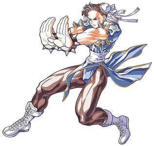 What was the command for Chun-Li's Kikoken in mitaani, mtaa Fighter II Turbo: Hyper Fighting?