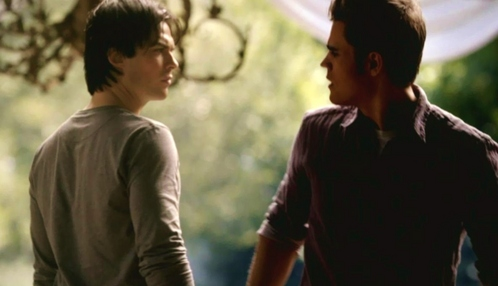 "Stefan: ""Why would you involve Jeremy?"" Damon: ""He's pulling Indiana Jones. He involved himself."""