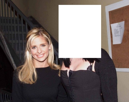 Who is Sarah with in this photo? (Clue: Her song was repeated in the Buffy epidode, Living Conditions)
