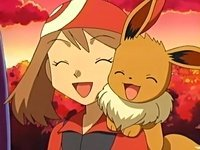 What did May evolve her Eevee into?