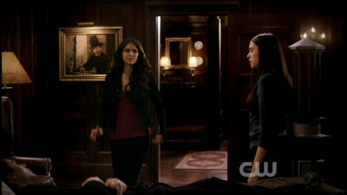 "Katherine: ""I thought anda were dead."" What does Elena say?"
