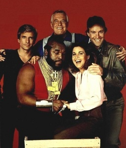 Which actor in The A-Team was rumored to be having a fling with Marla Heasley (Tawnia)?