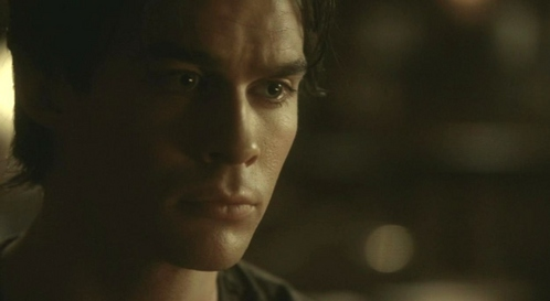 """""""If we want to survive we need to not care about anyone."""" Damon replies: """"Caring gets you dead,huh?"""" --who is Damon with?"""