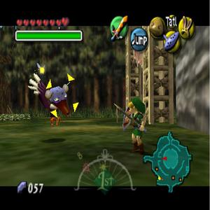 In 'The Legend of Zelda: Majora's Mask', what do you get when you defeat the giant bird (Takkuri) that flies around the entrance to Milk Road and steals your items?