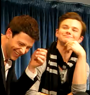 "(True or False) Cory Monteith and Chris Colfer's favorite color is ""blue""."
