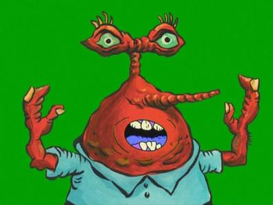 What episode does this picture of Mr. Krabs appear?
