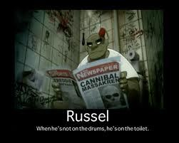 What is the name of Russel's giant synthesizer?