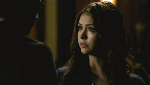 "Damon: ""I like you better like this. Period look didn't suit you."" What does Elena say in return?"