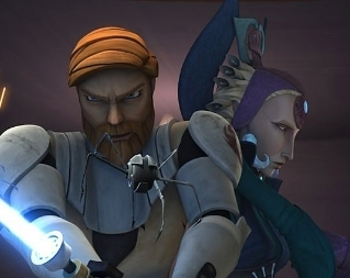 What other Jedi was with Obi-wan when he first met Satine?