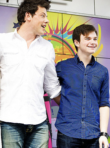 (True or False) Cory Monteith and Chris Colfer are both terrified of motorcycles.