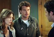 Which female character on Grey's Anatomy did Chris O'Donnell romance before she dumped him for her now-husband?