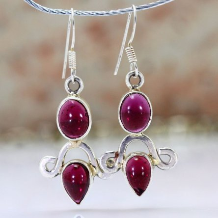 These earrings were made of...