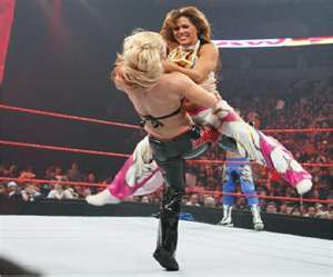 What are the names of Mickie James's finishers?