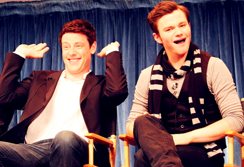 (True or False) The Glee cast considers Cory Monteith and Chris Colfer to be the comedians of the group.