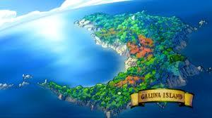 What's the name of the person who took Natsu,Lucy and Gray to Galuna Island?