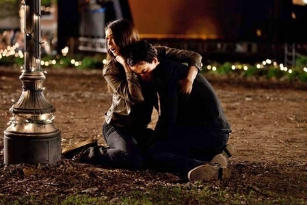 """But she reached for Damon and he reached for her and they went to their knees holding each other. 'Thank you,' Damon whispered, the weight of his head on her shoulder."""