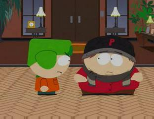 """Finish the quote... Cartman: I don't think it's funny, Kyle. Kyle: Then stop saying you're, """"not just sure, you're HIV positive..."""""""