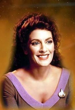 What is Deanna Troi's function on the ship?