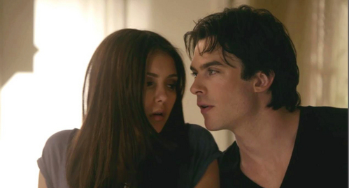 "Elena asked... ?  Damon: ""He's my new BFF."""