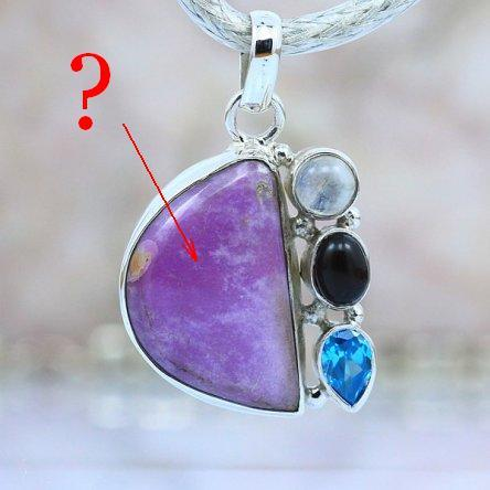 This pendant was made of...