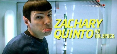 True or False: Zachary Quinto didn't need to audition to get the role as Spock