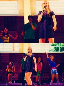 What is the name of her character in Glee?