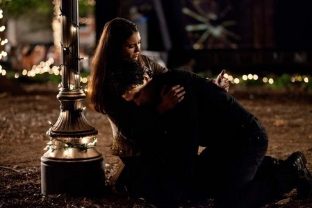"""Books: The newborn vampire Elena thinking, """"No one could hurt him [Damon] and live."""" Who is Damon fighting in The Fury?"""