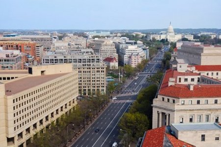 The maximum height of buildings in Washington, D.C. is determined سے طرف کی a formula that takes into account...