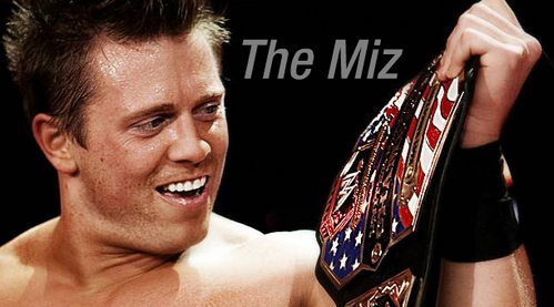 What title is The Miz is holding?