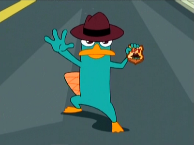 What did Phineas and Ferb name this secret agent platypus at first? (if you've seen the movie you should know the answer)