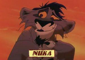Is Nuka older or younger then Kovu?