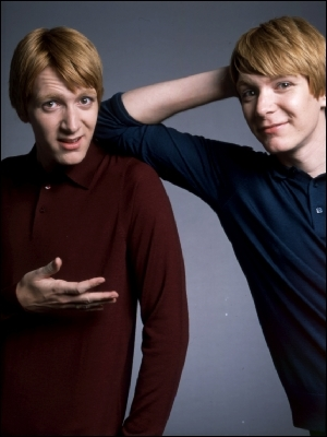 Fred and George in Harry's first year, tried to send him what? when he was in the Hospital Wing after the Voldemort incident.
