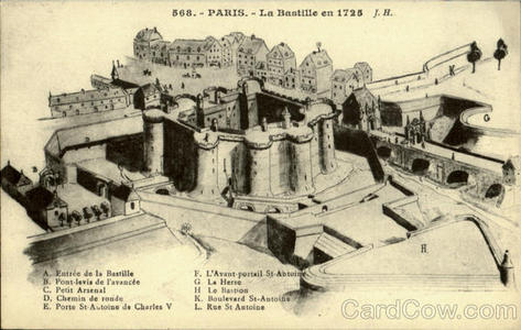 The Bastille - a prison in Paris, demolished during the Revolution 1789-98. Which Bastille prisoner yelled &#34;They are killing all the prisoners!&#34; to the mob outside?
