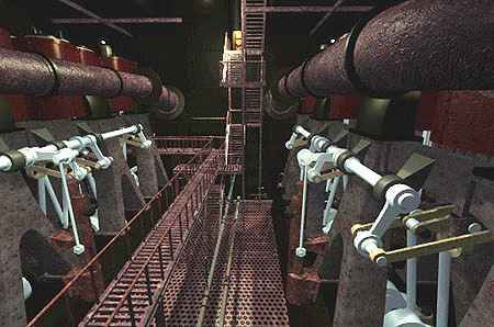 The engine room scenes were partially filmed aboard the WWII ship SS Jeremiah O'Brien. Smaller ________ AND _______were installed to make the engines appear bigger.