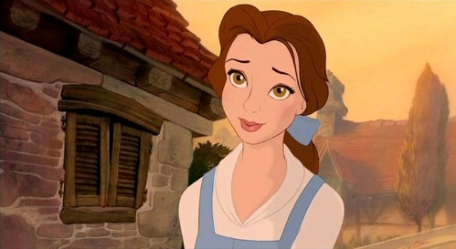 Is Belle the only one in her village to wear blue