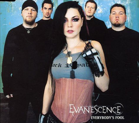 What country has the highest peak position for Everybody's Fool by Evanescence?