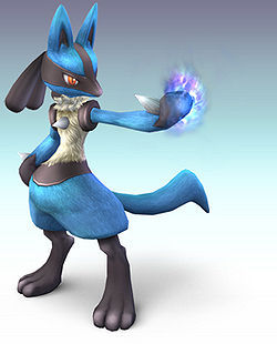 At Lucario trophy, there are description about Lucario, but, what game he makes his first debut?