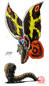 How many filmes has Mothra appeared in?